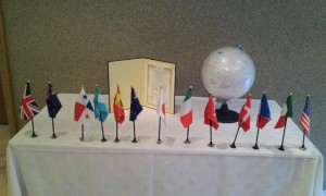 Flags of the Nations represented at the Gendai Reiki Network International Conference 2012 in Kyoto