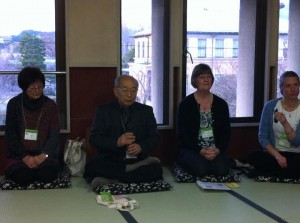 Doi Sensei, Mrs Doi, Trille Palsgaard and Jean Jones at the Gendai Reiki Network International Conference 2012 in Kyoto